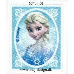 Elsa Printet strygemærke 7x6 cm