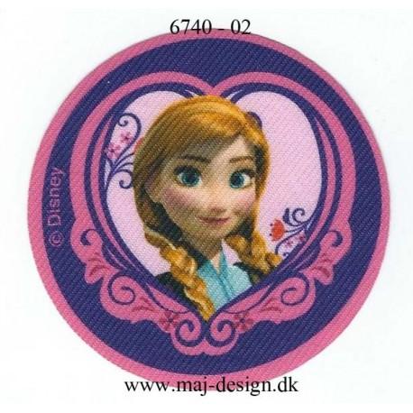 Anna Printet strygemærke Ø 7 cm