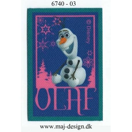 Olaf Printet strygemærke 7,5x5 cm