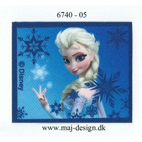 Elsa Printet strygemærke 6,5x5 cm