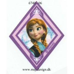 Anna Printet strygemærke 8x6,5 cm