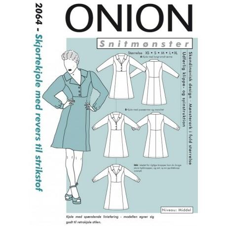 Skjortekjole m/revers onion snitmønster