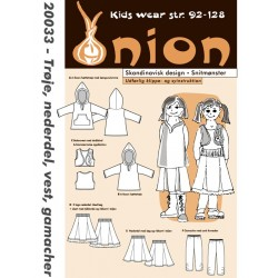 Trøje, nederdel, vest og gamacher Onion snitmønster