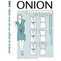 Kjole m/slå-om-effekt Onion snitmønster