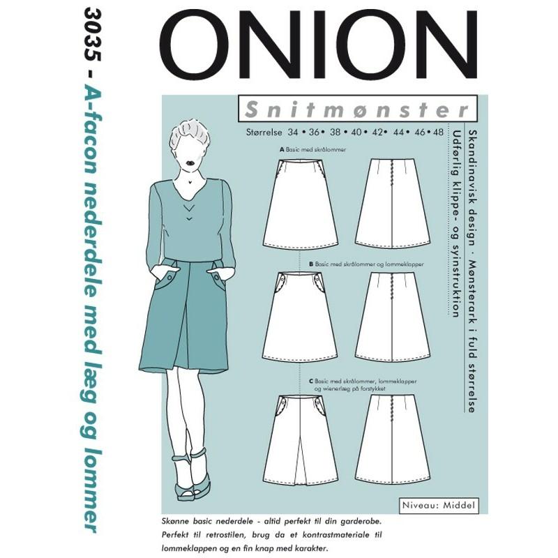 b0a2c894e Nederdele, Buksenederdele onion snitmønster