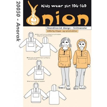 Anorak Onion snitmønster 20050