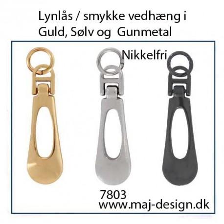 lang dråbe Lynlås vedhæng med hul, nikkelfri