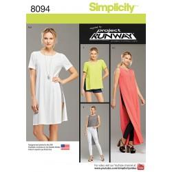 Bluse, bukser og top Simplidity snitmønster 8094