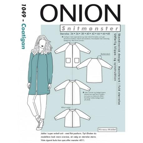 Coatigan Onion snitmønster 1049