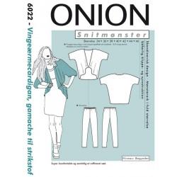 Vingeærmecardigan og gamacher Onion snitmønster 6022