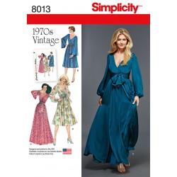 Vintage kjole 1970èrne snitmønster