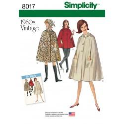 Vintage 1960èrne Kappe og tørklæde snitmønster