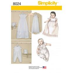 Dåbskjole og dåbs dragt Simplicity snitmønster 8024 A