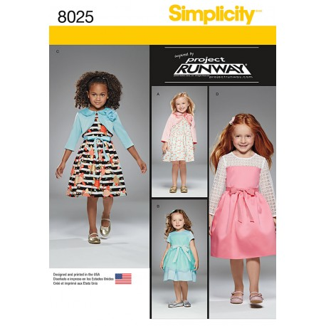 Pigekjole og bolero Simplicity snitmønster 8025