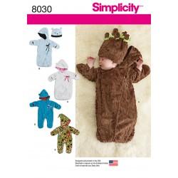 Babytøj Kørepose og køredragt snitmønster