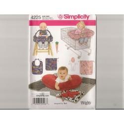 Babytæppe og pude snitmønster