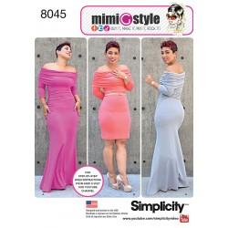 Kjole MimiGstyle også plusmode snitmønster