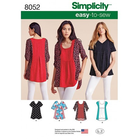 Tunika Simplicity snitmønster 8052 A