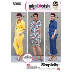 Jumpsuit MimiGstyle også plusmode simplicity snitmønster 8060