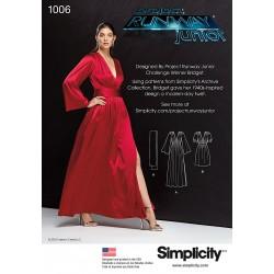 Kjole Simplicity snitmønster 1006