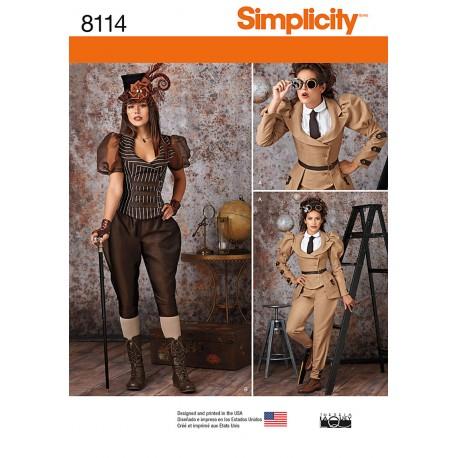 Steampunk kostume voksen Simplicity snitmønster 8114
