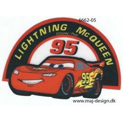 Cars Lightning McQueen Printet strygemærke 10x7 cm