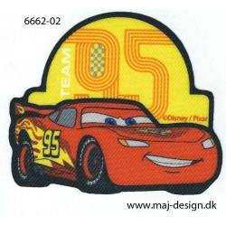 Cars McQueen Printet strygemærke 7x8 cm