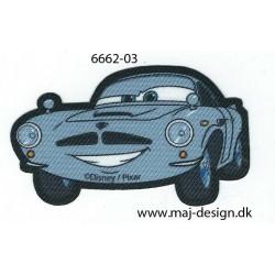 Cars Printet strygemærke 7,5x4 cm