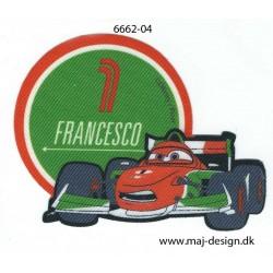 Cars Francesco Printet strygemærke 7 x 9 cm