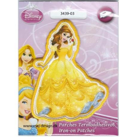 Prinsesse Bell Broderet strygemærke 9x6,5 cm