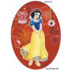 Disney Prinsesse Snehvide Printet strygelap oval 11x8 cm