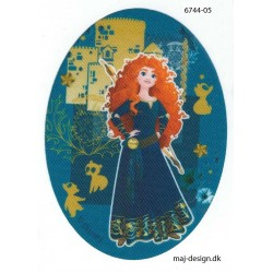 Disney Prinsesse Modig Printet strygelap oval 11x8 cm