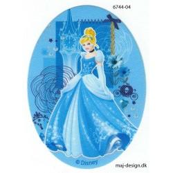 Disney prinsesse Askepot Printet strygelap oval 11x8 cm