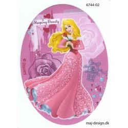 Disney prinsesse Tornerose Printet strygelap oval 11x8 cm