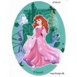 Disney prinsesse Ariel Printet strygelap oval 11x8 cm