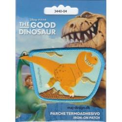 Den gode dinosaur Butch Broderet strygemærke 8x5 cm