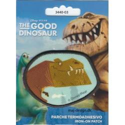 Den gode Dinosaur Bruno broderet strygemærke Ø ca. 6 cm