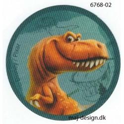 Den gode dinosaur Randi Printet strygemærke Ø 6,5 cm