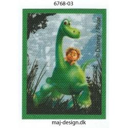 Den gode dinosaur Arlo & Tot Printet strygemærke 7x5 cm