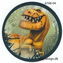 Den gode dinosaur Bruno Printet strygemærke Ø 6,5 cm