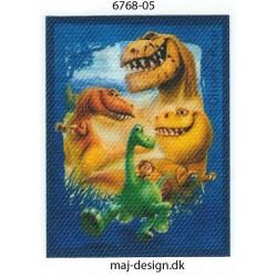 Den gode dinosaur Arlo,Tot og venner Printet strygemærke 7x5 cm