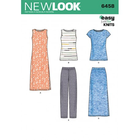 Bukser, kjole og top New look snitmønster easy