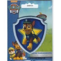 Paw Patrol Chase Broderet strygemærke 7x6,5 cm