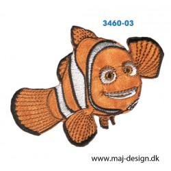 Nemo broderet strygemærke 6,5x9 cm.