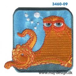 Find Dory Blæksprutte broderet strygemærke 6,5 cm.