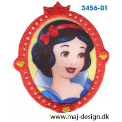 Disney Prinsesse Snehvide Broderet strygemærke 7 cm.