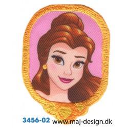 Disney Prinsesse Belle Broderet strygemærke 7 cm.
