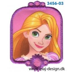 Disney Prinsesse Rapunzel Broderet strygemærke 6,8 cm.