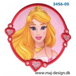 Disney Prinsesse Tornerose Ø 7 cm. Broderet strygemærke