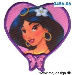Disney Prinsesse Jasmin Broderet strygemærke 6 cm.
